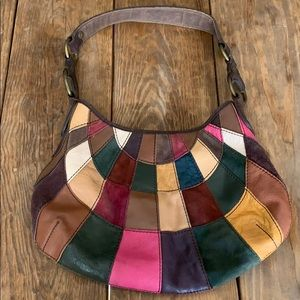 Lucky Brand l Patchwork Suede Multi Leather Bag
